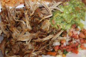 Carnitas Plate from Taco Express